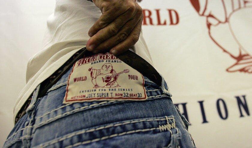 True Religion jeans brand label