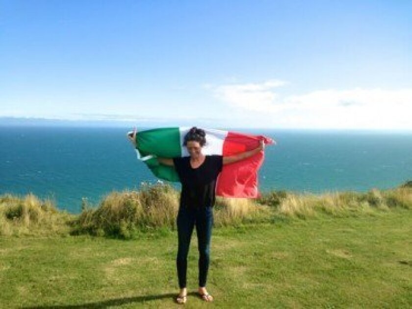 With dual Italian and American citizenship, Allison (Alli) DeFrancesco, 25, is the first Italian woman to complete the swim across the English Channel. Courtesy