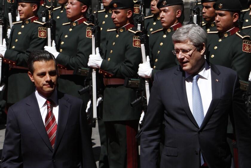 Enrique Pena Nieto, Stephen Harper summit preview