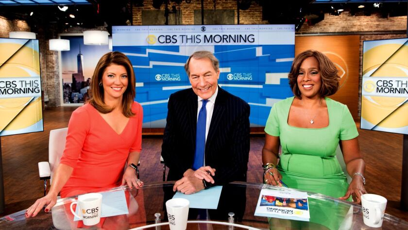 Gayle King, Charlie Rose and Norah O'Donnell are making ratings inroads with a newsier approach on ""