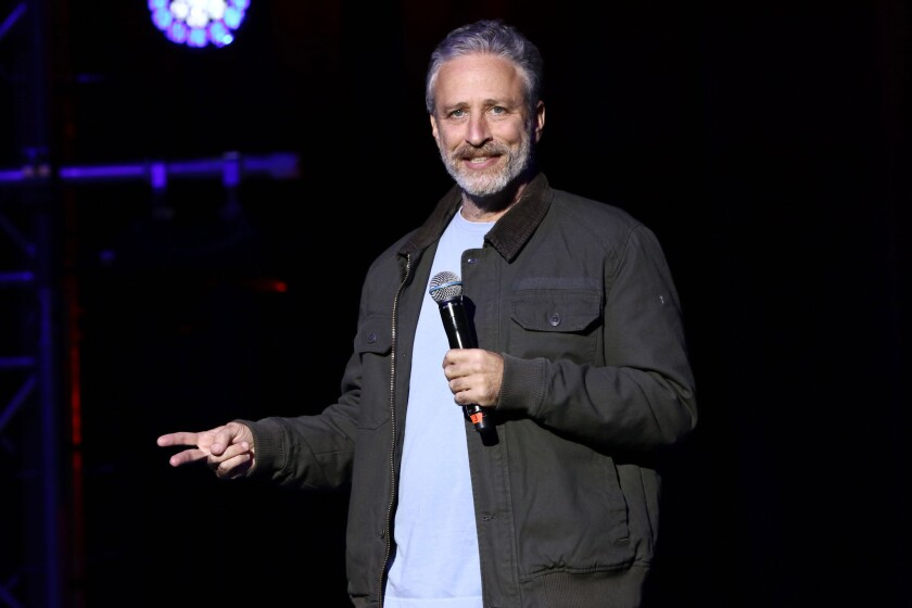 Jon Stewart, shown performing in November, is pushing Congress to renew the Zadroga act, which provides health benefits for first responders who became ill after the Sept. 11 terror attacks.