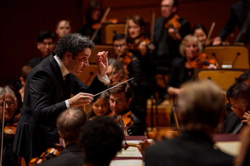 Review: Gustavo Dudamel begins a new L.A. Phil season with no need for a gala