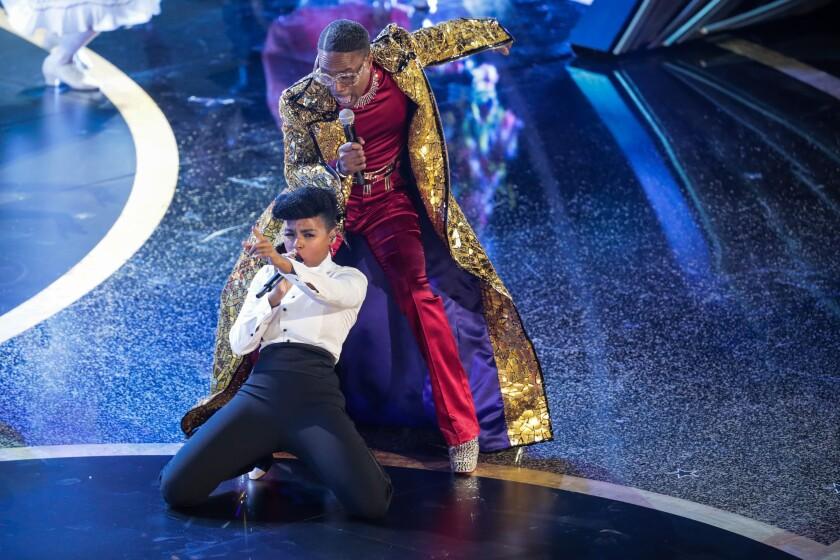 Janelle Monáe and Billy Porter perform during the telecast of the 92nd Academy Awards.