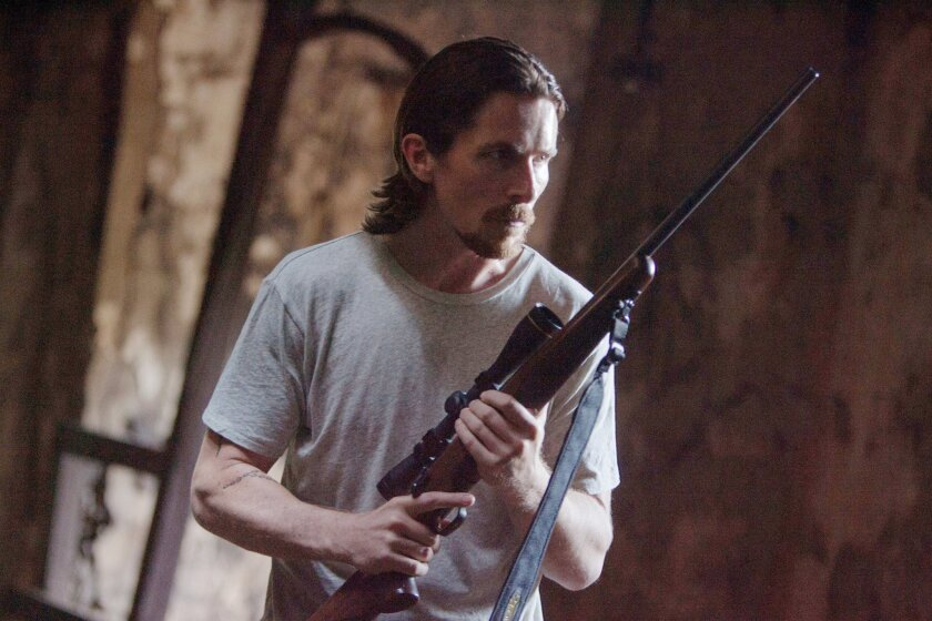 """This image released by Relativity Media shows Christian Bale in a scene from """"Out of the Furnace."""" (AP Photo/Relativity Media, Kerry Hayes)"""