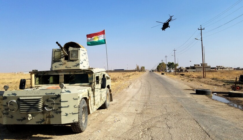 The Iraqi village of Shakoli outside Bartella on Thursday.