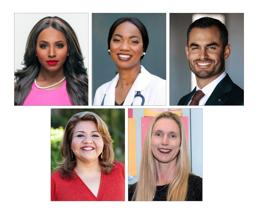 79th Assembly candidates Aeiramique Glass Blake, Akilah Weber, Marco Contreras, Leticia Munguia, Shane Suzanne Parmely.