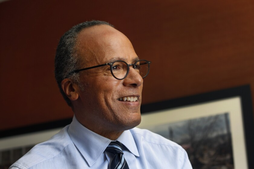 """Lester Holt replaces Brian Williams as anchor of """"NBC Nightly News."""""""
