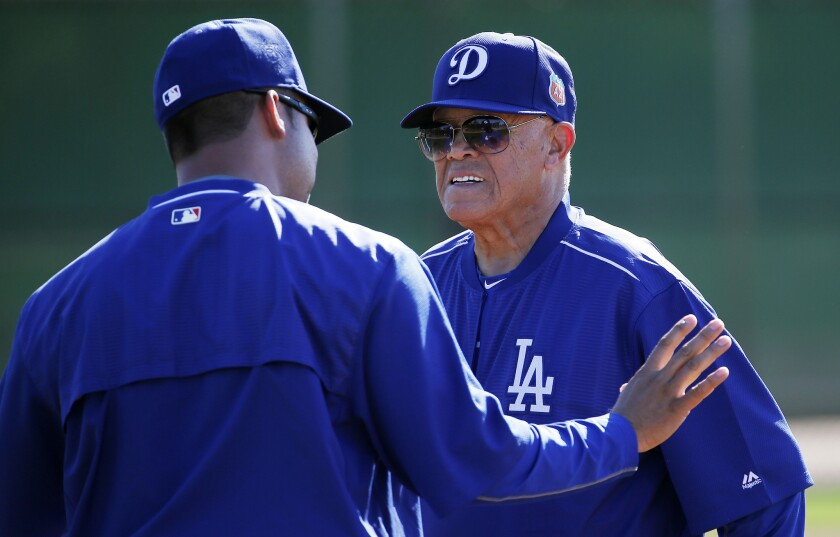 Maury Wills says this is his last spring training as a Los Angeles Dodgers instructor