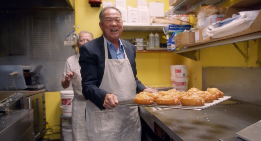 """Ted Ngoy in the documentary """"The Donut King."""""""