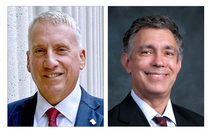 Paul Starita and Tim Nader, candidates for a San Diego Superior Court judge seat.