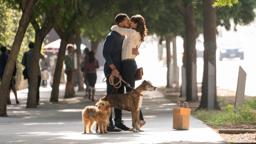 "Tone Bell, left, and Nina Dobrev in ""Dog Days."" MUST CREDIT: Jacob Yakob -- LD Entertainment ** Usab"