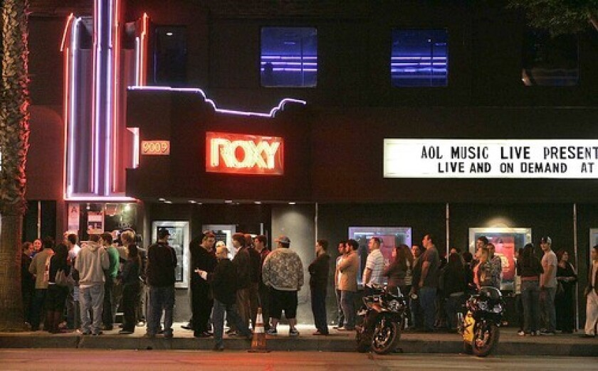 The Roxy nightclub on Sunset Boulevard in 2006.
