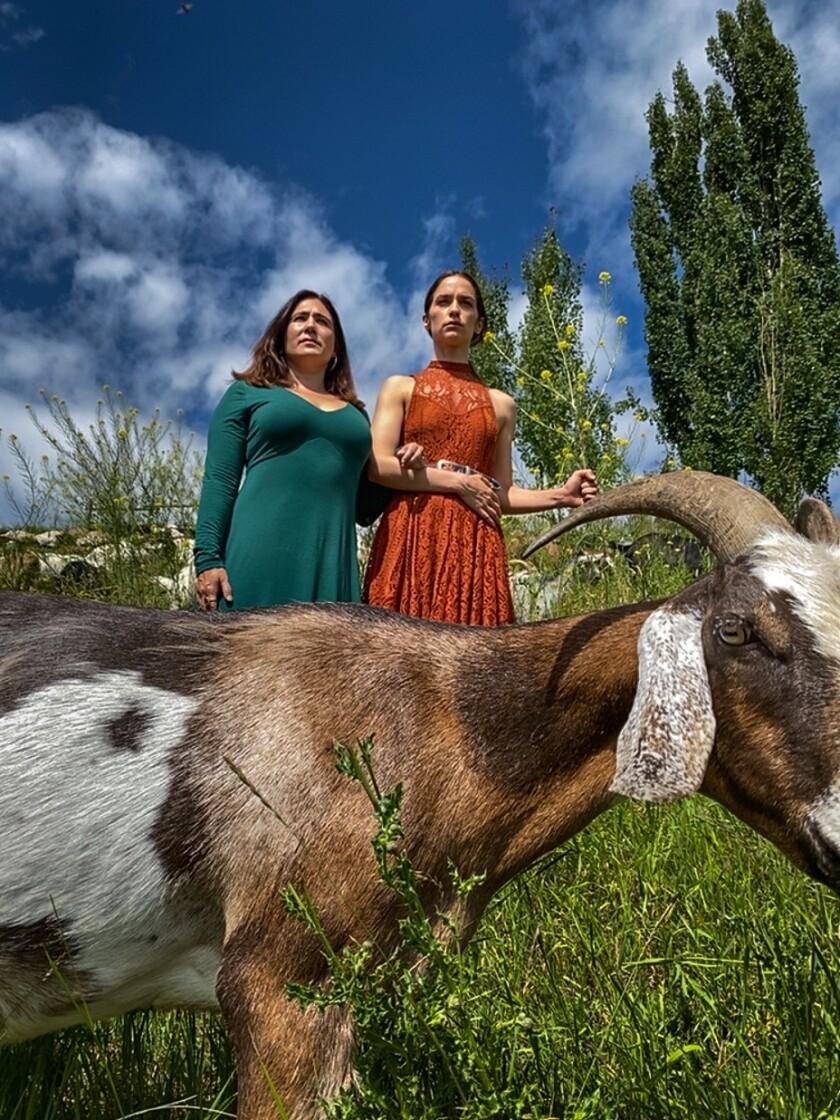 Emily Andras and Melanie Scrofano