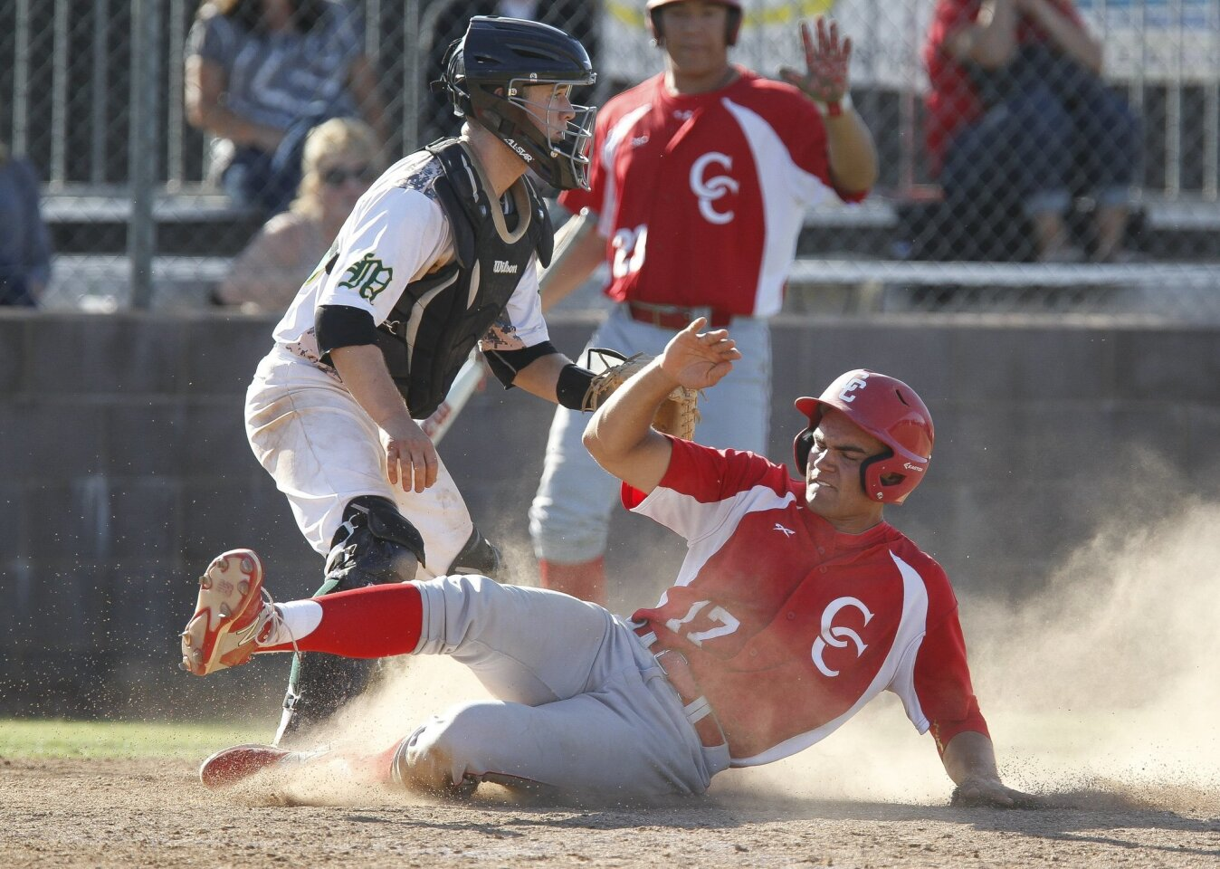 Cathedral Catholic's John Cresto, pictured scoring earlier in the season against Moorpark, had three triples against St. Augustine to tie a single-game section record.