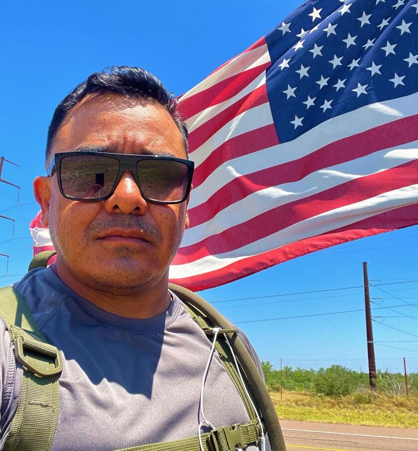 Marine Corps veteran Ramon Castro reached Zapata, Texas.