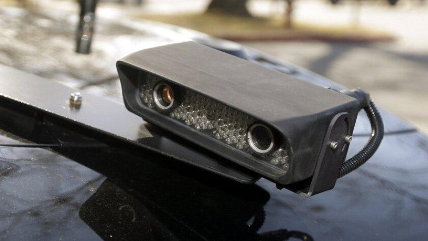 License plate reader device. (AP Photo/Danny Johnston)