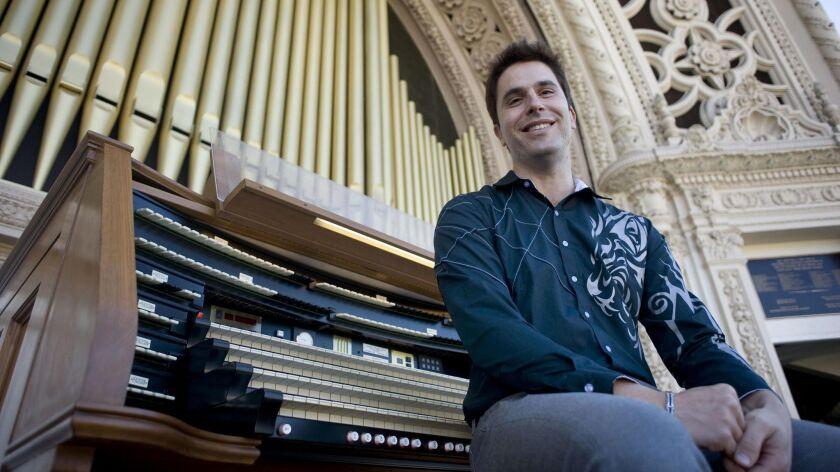 Raúl Prieto Ramírez will play his first evening concert as San Diego's new civic organist on April 14.