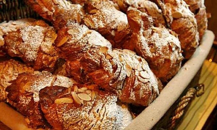 BUTTERY AND FLAKY: Almond croissants by French pastry chef François Payard.