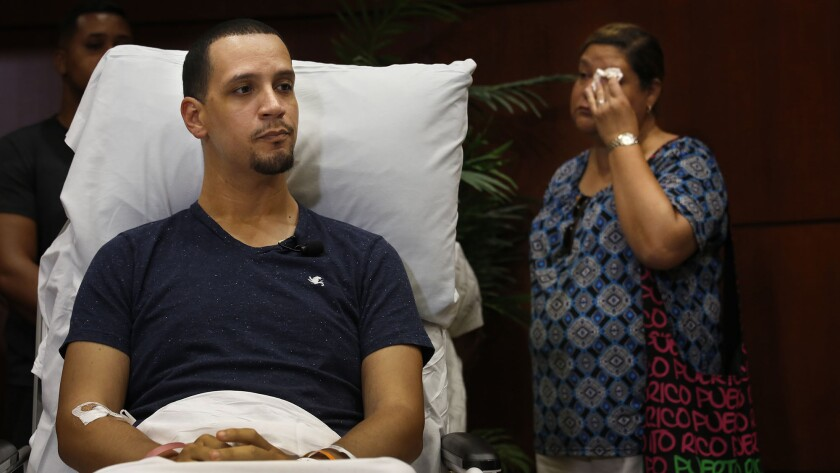 Angel Santiago on June 14, describes how events unfolded during the mass shooting at the Pulse nightclub in Orlando two days earlier.