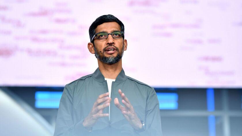 Google Chief Executive Sundar Pichai.