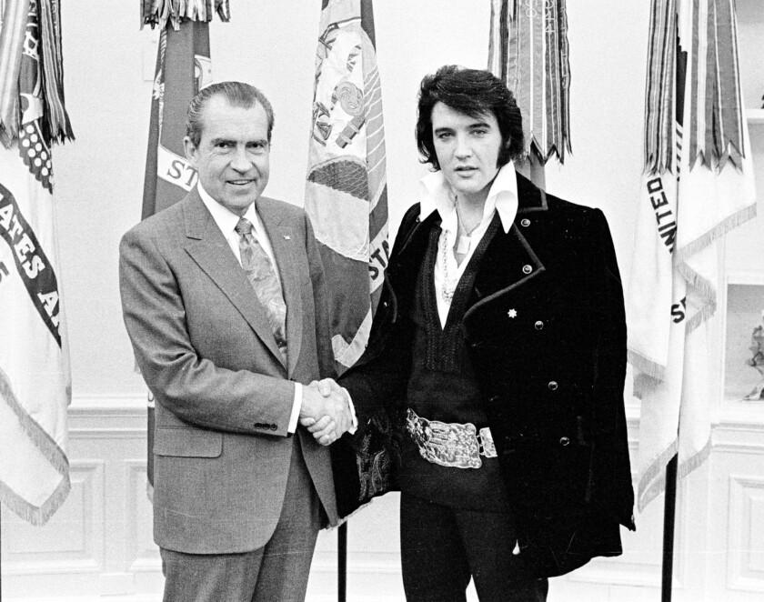President Richard Nixon meets Elvis Presley