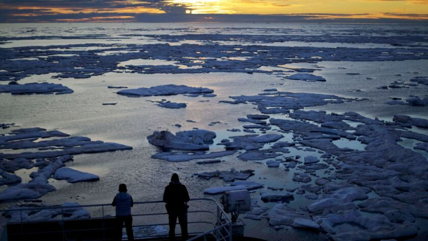 Sea ice in the Northwest Passage in the Canadian Arctic Archipelago
