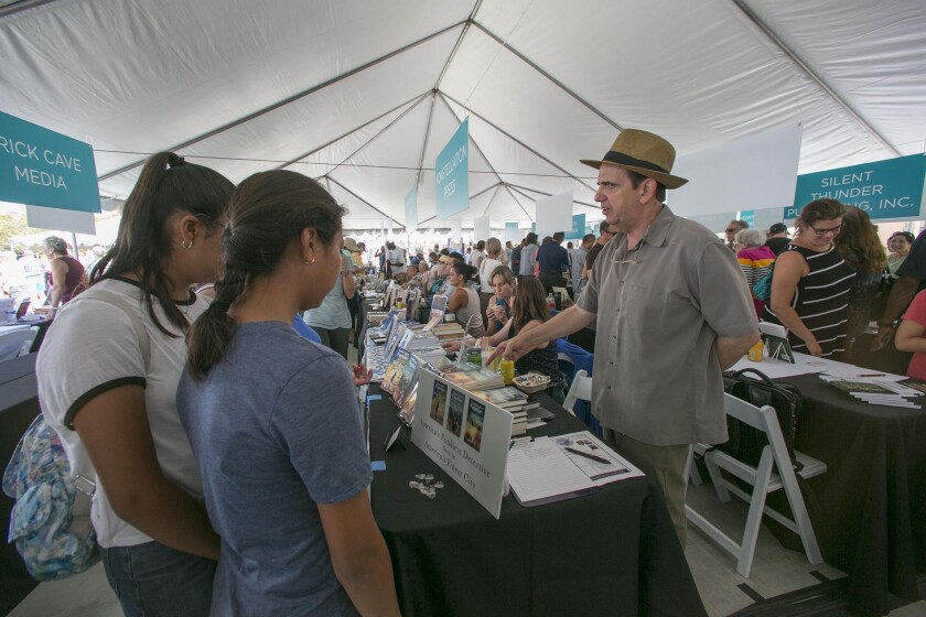 Corey Lynn Fayman at the San Diego Union-Tribune Festival of Books