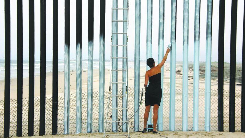 Ana Teresa Fernandez, Still from Erasing the Border (Borrando la Frontera), 2012. Video, 3 minutes 3