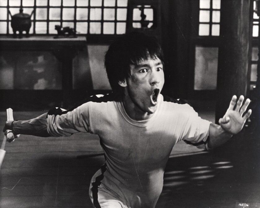 """Bruce Lee in a scene from """"Game of Death"""" by director Robert Clouse."""