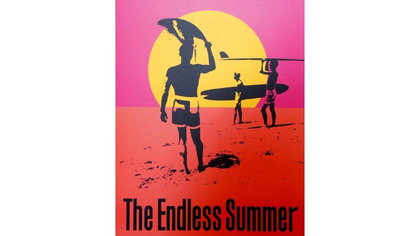 "LOS ANGELES, CA., JULY 30, 2014 -- Artist John Van Hamersveld work of the film poster for ""The Endle"