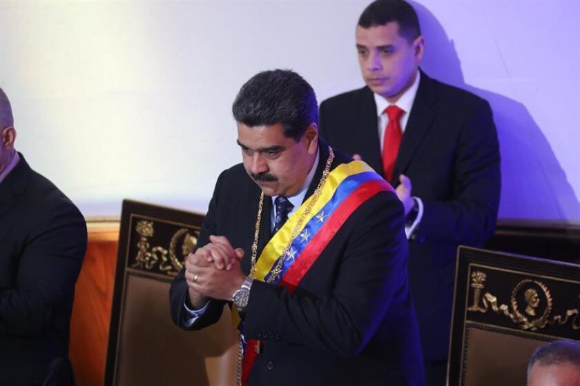 El presidente de Venezuela, Nicolás Maduro, asiste , a la sesión del foro Constituyente, en Caracas (Venezuela) donde rinde cuentas sobre su mandato en 2018. EFE/Archivo