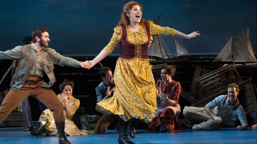 "Lindsay Mendez and the company of ""Carousel"" perform."" Credit: Julieta Cervantes"