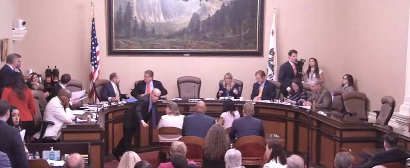 Senate Energy committee hearing on AB 1054 wildfire bill
