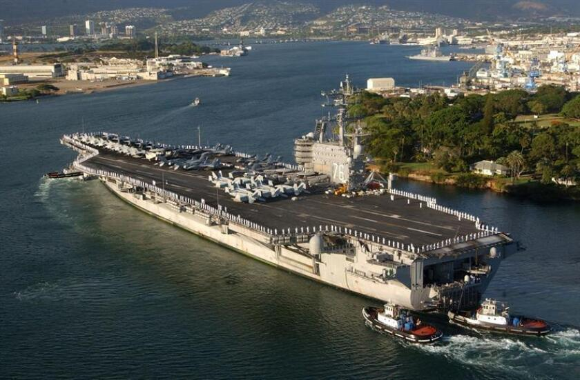 A view of the Pearl Harbor port, Hawaii. EFE/U.S. Navy