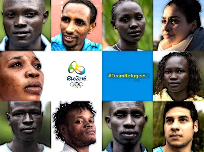 Parte del equipo Olímpico de Refugiados...