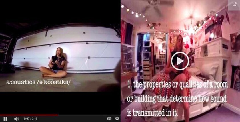 Sophia Bacino's 'acoustics' video is among the Top 10 winners in the 15-Second Vocabulary Video Contest.