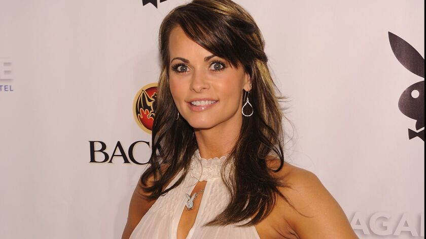 Karen McDougal, the 1998 Playboy Playmate of the Year, at a Playboy event in Miami Beach on Feb. 6,