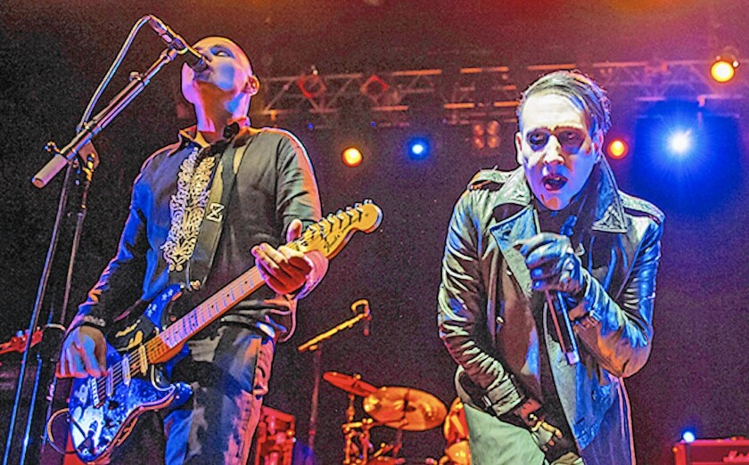 The Smashing Pumpkins and Marilyn Manson perform at the Irvine Meadows Amphitheater in 2013, when it was known as the Verizon Amphitheater.