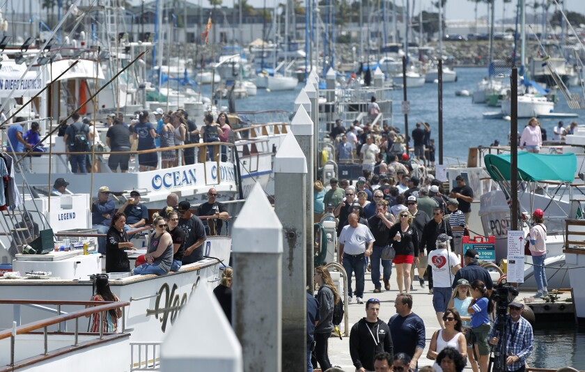 People attend the 2019 Day at the Docks in San Diego.