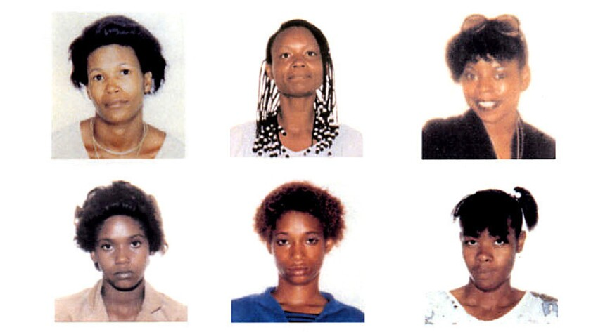 Victims of the Grim Sleeper in the 1980s. Top row, from left: Debra Jackson, Henrietta Wright and Ma