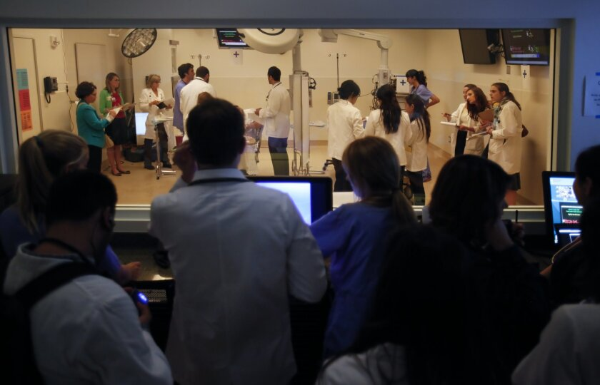 An interprofessional education exercise at the UCSD School of Medicine.
