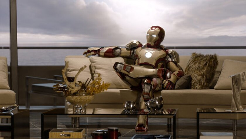 """""""Iron Man 3,"""" produced by Walt Disney Co.-owned Marvel Studios, will be released in May."""