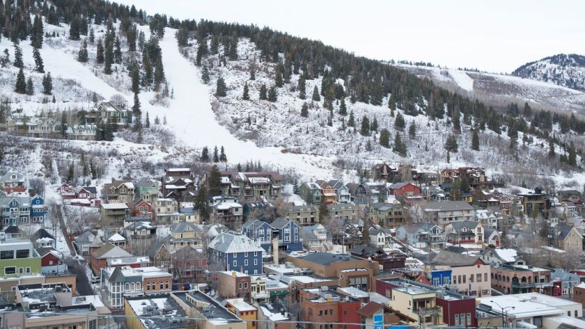 A view of Park City the day before the start of the 2018 Sundance Film Festival.
