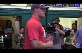 J.J. Watt drops by Narbonne High