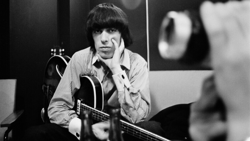 "A photograph of Bill Wyman in the Studio in scene from ""The Quiet One."" Credit: Brent Rej/Brent Rej"