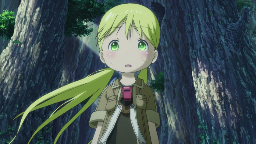 """Riko (voiced by Miyu Tomita and Brittany Lauda in the Japanese- and English-language versions, respectively) in the animated movie """"Made in Abyss: Journey's Dawn."""""""