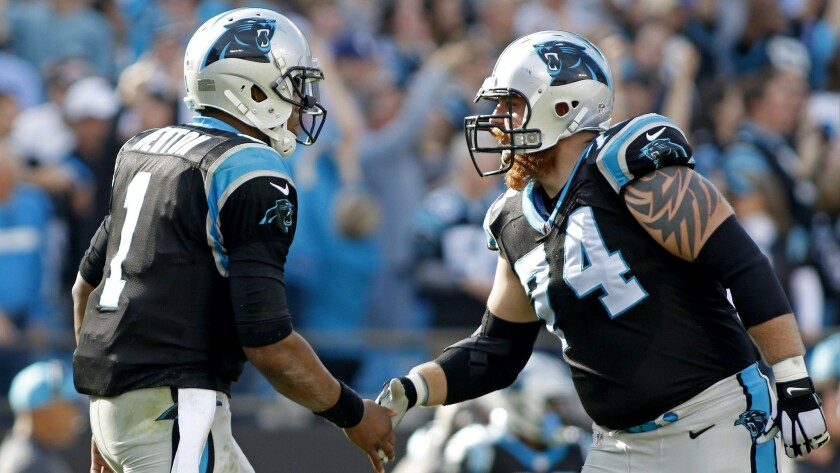 Cam Newton, Mike Remmers