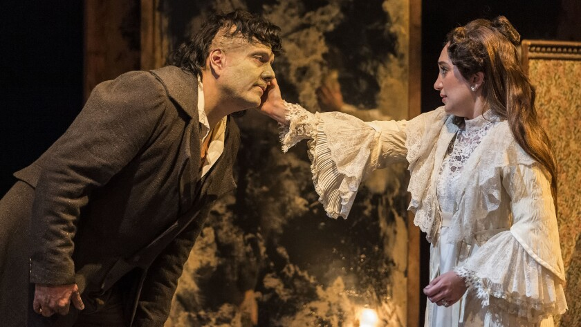 """Michael Manuel and Erika Soto in """"Frankenstein"""" at A Noise Within."""