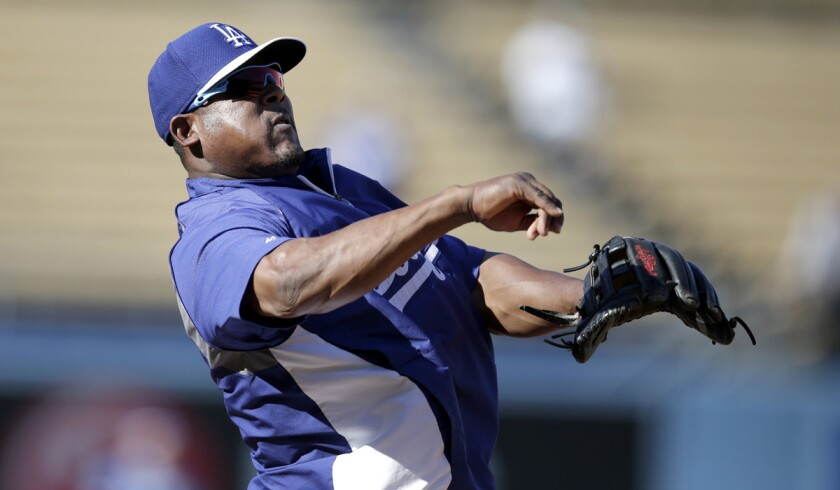 Dodgers third baseman Juan Uribe is trying to recover from a mild hamstring strain.