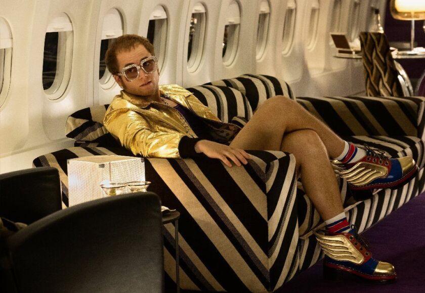 "Taron Egerton as Elton John in ""Rocketman."""